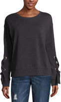 Arizona Lace Up Sleeve Sweatshirt-Juniors