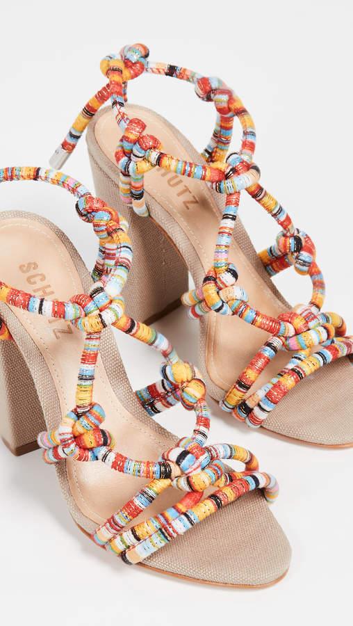 Schutz Floribela Strappy Sandals