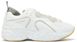 Acne Studios Rockaway Low Top Leather Trainers - Mens - White