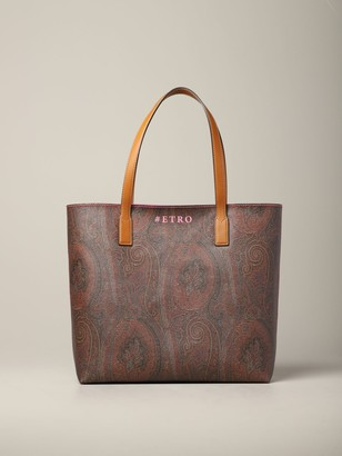 Etro Shoulder Bag In Printed Leather