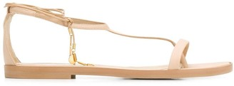 Stella McCartney logo plaque sandals