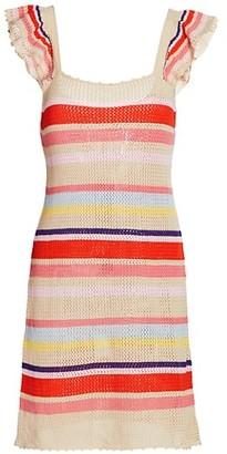 Rails June Ruffle-Sleeve Knit Mini Dress