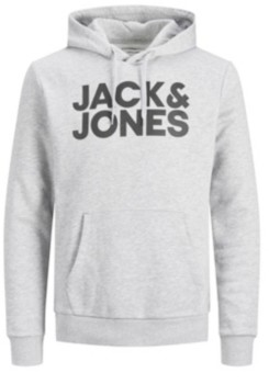 Jack and Jones Men's Logo Long Sleeve Pullover Hoodie