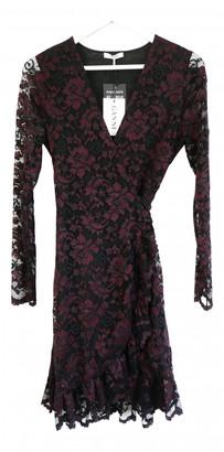 Ganni Burgundy Lace Dresses