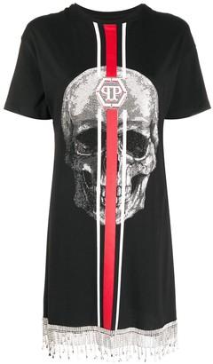 Philipp Plein skull-print T-shirt dress