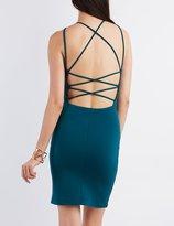 Charlotte Russe Strappy Bib Neck Bodycon Dress