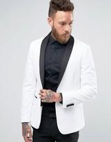 Asos Skinny Blazer in White Velvet