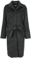 Rochas long belted coat - women - Polyamide/Cupro/Viscose/Alpaca - 38