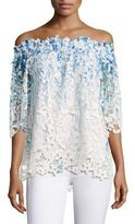 Elie Tahari Diana Lace Off-the-Shoulder Top