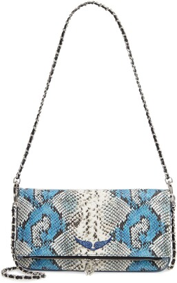 Zadig & Voltaire Rock Painted Wild Clutch