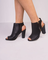 Missy Empire Monica Black Open Top Cut Out Boots