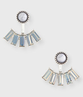 Crystal Ear Jacket Stud Earrings