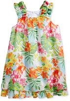 Bonnie Jean Little Girls' Tropical-Print Chiffon Dress