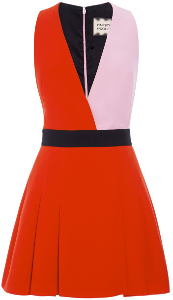 Fausto Puglisi Color-Block Cady Mini Dress