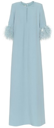 Elie Saab Exclusive to Mytheresa - Feather-trimmed crepe gown