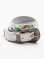 Free People Animal Print Leather Belt