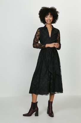 Coast Sheer Lace Long Sleeve Midi Dress