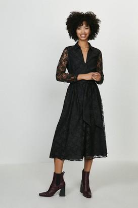Coast Sheer Lace Long Sleeve Midi Dress