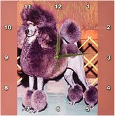 3drose Standard Poodle Wall Clock, 10 by 10-Inch