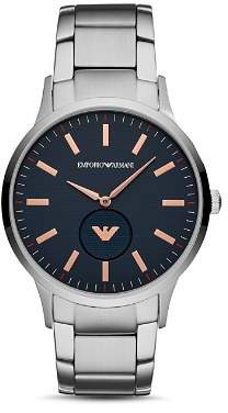 Emporio Armani Stainless Steel Dress Watch, 43mm