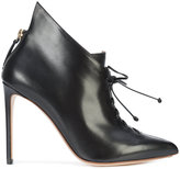 Francesco Russo lace-up heeled boots - women - Leather - 37