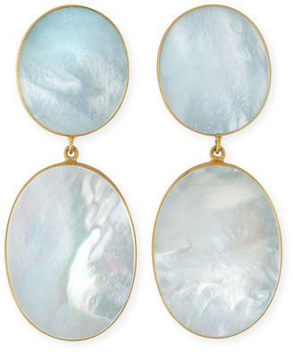 Dina Mackney XL Double Mother-of-Pearl Earrings