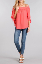 Blu Pepper Off-The-Shoulder Top