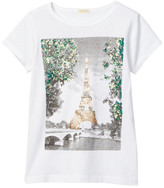 J.Crew Factory J. Crew Factory Short Sleeve Sequin Eiffel Tower Tee (Little Girls)
