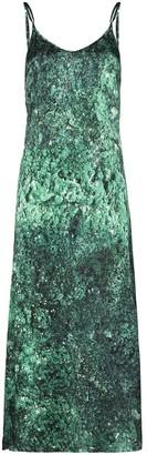Märta Larsson Pfeiffer malachite-print slip dress