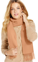 Charter Club Solid Woven Cashmere Scarf, Only at Macy's