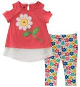 Kids Headquarters Baby Girl's Floral Top and Bottom Two-Piece Set