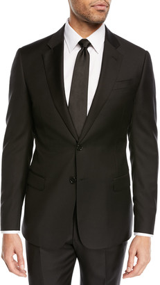 Emporio Armani Super 130s Wool Two-Piece Suit, Black