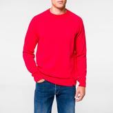 Paul Smith Men's Fuchsia Merino-Wool Raglan Knitted Sweater