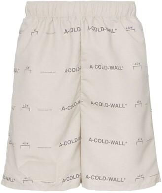 A-Cold-Wall* Logo Print Shorts