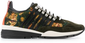 DSQUARED2 Tiger Pattern Low-Top Sneakers
