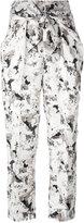 Max Mara beige printed trousers - women - Silk - 42