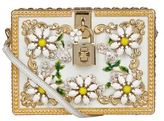 Dolce & Gabbana Daisy Embellished Padlock Box Clutch