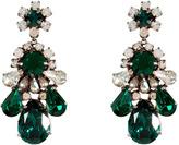 Shourouk Emerald Green Crystal DS Earrings