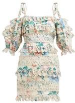 Zimmermann Verity Floral-print Mini Dress - Womens - Multi