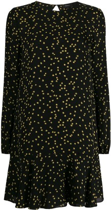 Theory Star-Print Flared Dress