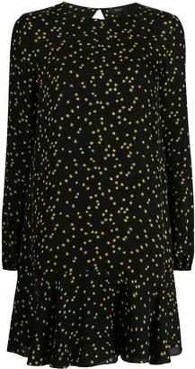 Theory star-print flared dress