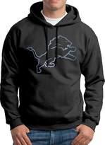 Sarah Men's Detroit Lions Pond Logo Hoodie XL