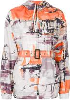 Prada Boat print hooded jacket