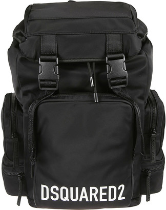 DSQUARED2 Logo Print Snap-lock Backpack