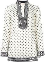 Tory Burch fish print tunic - women - Cotton/Polyester - 4