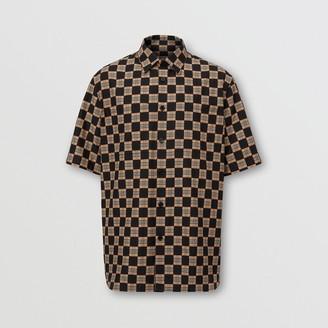 Burberry Short-sleeve Chequer Print Cotton Shirt