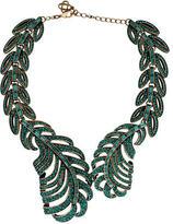 Oscar de la Renta Pavé Crystal Feather Wrap Necklace