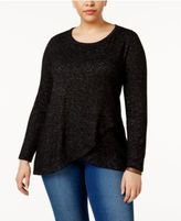 ING Trendy Plus Size Crossover Sweater