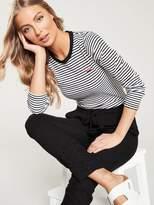 Very Cutwork Linen Trouser - Black