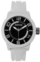 Kenneth Cole Reaction Unisex RK1431 Street Collection Analog Display Japanese Quartz White Watch
